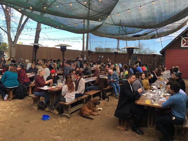 This scene sums up the culture of live music, Sunday brunch, local craft beer and the laid back attitude of Austin.